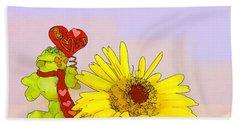 Happy Valentine's Day Hand Towel by Teresa Zieba