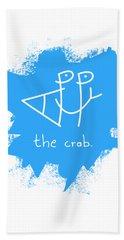 Happy The Crab - Blue Bath Towel
