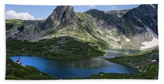 Haramiya Mountain-twin Lake-2 Hand Towel