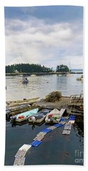 Harbor At Georgetown Five Islands, Georgetown, Maine #60550 Hand Towel