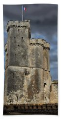 Harbor Of La Rochelle Hand Towel by Anthony Dezenzio