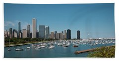 Harbor Parking In Chicago Hand Towel