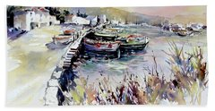Harbor Shapes Bath Towel by Rae Andrews