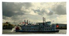 Harbor Tour With Paddle Wheeler Lousiana Star Bath Towel
