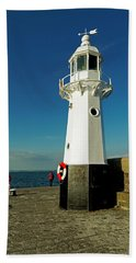 Harbour Lighthouse - Mevagissey Bath Towel