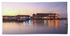 Harbour Lights, Hillarys Boat Harbour Hand Towel by Dave Catley