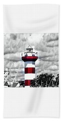 Hand Towel featuring the photograph Harbour Town Lighthouse by Tara Potts
