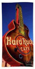 Hard Rock Hotel Guitar At Dawn Hand Towel by Aloha Art