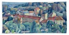 Hardricourt Village And Castle Hand Towel