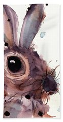 Hare Bath Towel by Dawn Derman