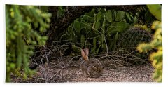 Hand Towel featuring the photograph Hare Habitat H22 by Mark Myhaver