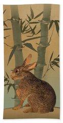 Hare Under Bamboo Tree Hand Towel
