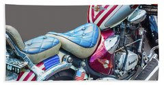 Hand Towel featuring the photograph Harley by Charuhas Images