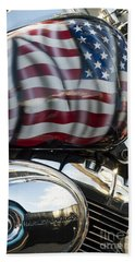 Harley Davidson 7 Hand Towel by Wendy Wilton