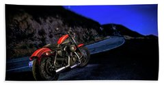 Bath Towel featuring the photograph Harley Davidson Nightster by YoPedro