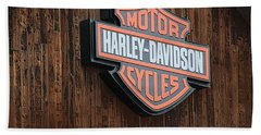 Harley Davidson Sign In West Jordan Utah Photograph Hand Towel