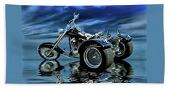 Bath Towel featuring the photograph Harley Heritage Soft Tail Trike by Steven Agius