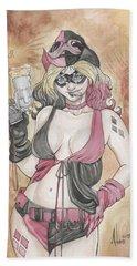 Harley Quinn And Her Popgun Bath Towel