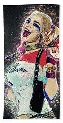 Harley Quinn Hand Towel by Taylan Apukovska