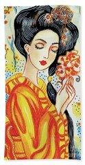 Harmony Flower Hand Towel