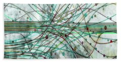 Hand Towel featuring the digital art Harnessing Energy 3 by Angelina Vick