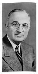 Harry Truman - 33rd President Of The United States Bath Towel
