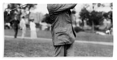 Harry Vardon - Golfer Hand Towel by International  Images