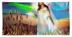Bath Towel featuring the digital art Harvest Bride by Dolores Develde