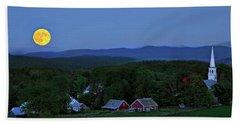 Harvest Moon Over Peacham Vermont Hand Towel