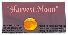 Harvest Moon Song Hand Towel by John Malone
