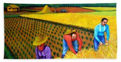 Hand Towel featuring the painting Harvest Season by Cyril Maza
