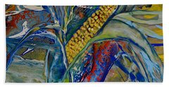 Bath Towel featuring the painting Harvest Time by Deborah Nell