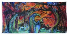 Harvesters Of The Autumnal Swamp Hand Towel