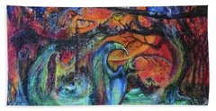 Harvesters Of The Autumnal Swamp Bath Towel
