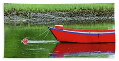 Harwich Rowboat Hand Towel by Jim Gillen