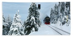 Harz Ballooning And Brocken Railway Bath Towel by Andreas Levi