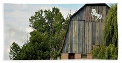 0017 - Hassler Lake Road Horse Barn Hand Towel