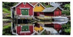 Haugesund Reflections Hand Towel by Shirley Mangini
