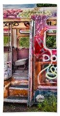 Haunted Graffiti Art Bus Bath Towel