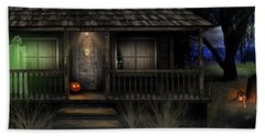 Haunted Halloween 2016 Bath Towel by Anthony Citro
