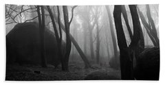Bath Towel featuring the photograph Haunted Woods by Jorge Maia