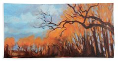 Hand Towel featuring the painting Haunting Glow by Andrew Danielsen