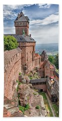 Hand Towel featuring the photograph Haut-koenigsbourg by Alan Toepfer