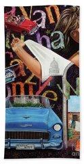 Havana City Bath Towel by Jorge L Martinez Camilleri