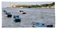 Havana Harbor Bath Towel