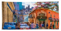 Havana In Bloom Hand Towel by Les Palenik