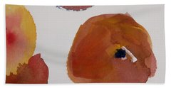 Hand Towel featuring the painting Have A Peach by Nancy Kane Chapman
