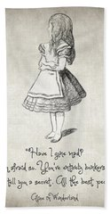 Have I Gone Mad Quote Hand Towel by Taylan Apukovska