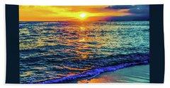 Hawaii Beach Sunset 149 Hand Towel
