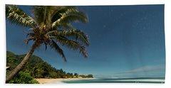 Hawaii Moonlit Beach Wainiha Kauai Hawaii Bath Towel